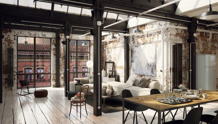 apartamento decorado no estilo industrial